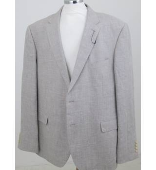 "NWOT M&S Collection - Size 48"" Long - Beige Single breasted 2 button suit jacket"