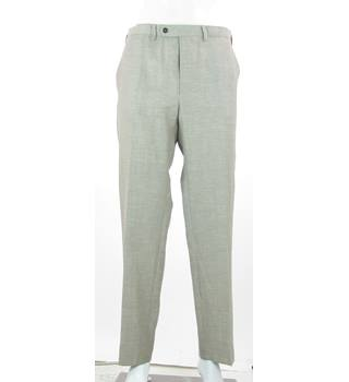 "BNWT: M&S Marks & Spencer - Size: 38"" - Beige - Wool & Linen Blend Trousers"