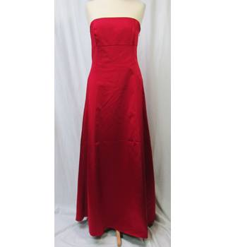 Debenhams - Size: 10 to 12 - Exquisite Red Satin - Full length dress