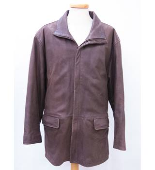 Men's hElium leather Jacket hElium - Size: large - Brown