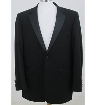 "Moss Bros - Size 42"" Regular - Black Single breasted suit jacket"