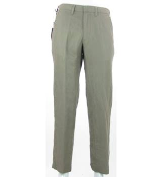 "BNWT: M&S Marks & Spencer - Size: 32"" - Putty - Linen & Cotton Chinos"