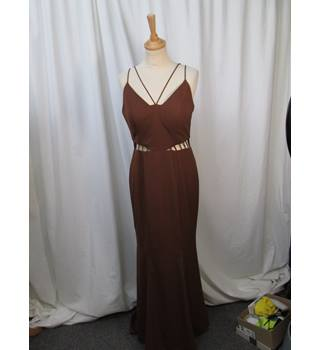 Jarlo - Size: 10 - Brown - Ashley Long dress