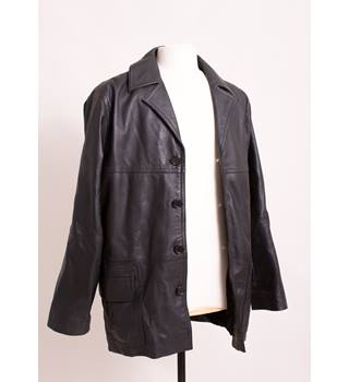 Real Leather black coat size S