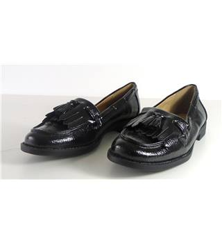 NWOT M&S Collection size 3 black patent effect loafers