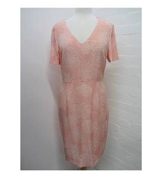 Jaeger Size 10 Pink with White Floral Dress