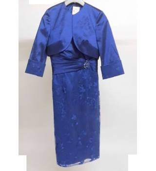 ISPIRATO Blue Formal Event Dress & Bolero Size 10