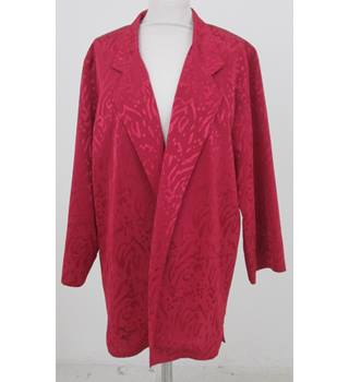 Jacques Vert - Size 16 - Red Smart Jacket