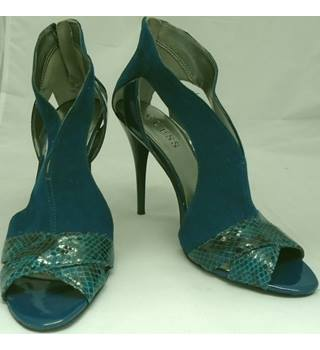Guess - Size 4.5 - Teal Blue - Suede Stiletto Heels