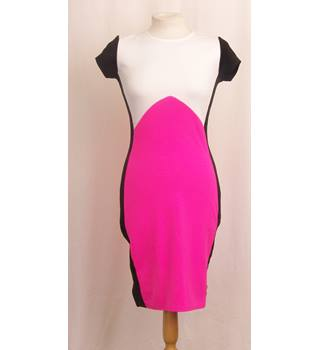 BNWT - Missi Size 8 - Black with White & Pink Dress