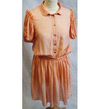 D&G Dolce & Gabbana peach 100% silk dress size 42 D&G Dolce & Gabbana - Size: 10 - Orange - Short