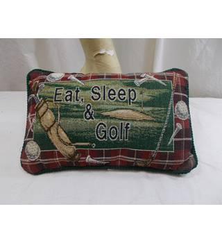 Eat  Sleep and Golf Word Pillow