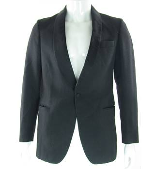 "Dunn & Co - Size: 36"" - Black - Single Breasted Dinner Jacket"