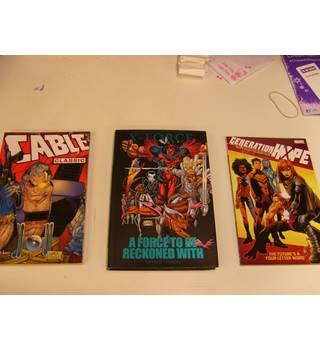 3 Marvel special issue comic books - A Force to be Reckoned With (hardback with d/j) , Cable Classic, Generation Hope