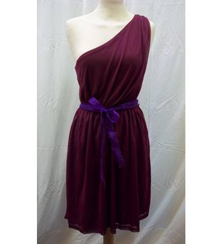 Gypsy T's Boutique (New Look) - Size: 10 - Burgundy - Short toga dress