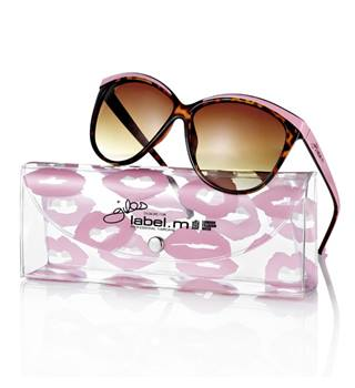 Giles Designs For Label.M Pink Sunglasses