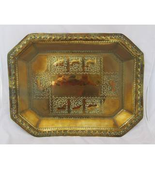 Rectangular Repousse Tray Unknown