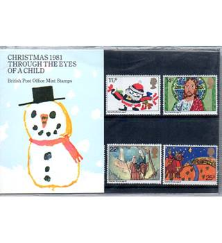 Christmas 1981 British Post Office Mint Stamps