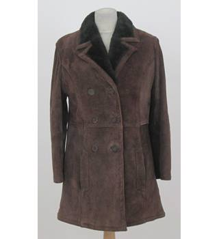 Unbranded - Size: 14 - Dark Brown - Suede Winter Coat