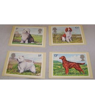 4 Royal Mail Postcards - British Dogs