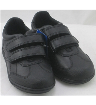 NWOT M&S School, size 9/27 black leather trainer shoes