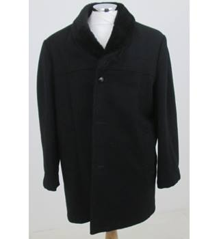Richman Brothers - Size L - Black Overcoat
