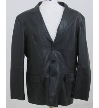 Jeff Banks - Size XXL - Black faux leather Jacket