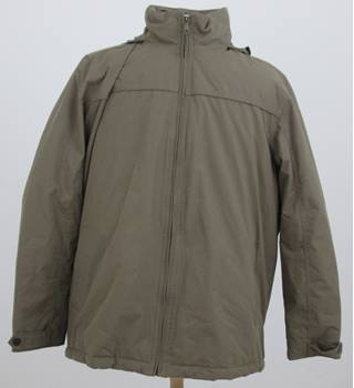Maine - Size XL - Beige Hooded Padded jacket