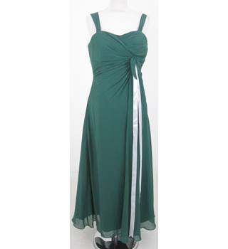Handcrafted - Size: M - Green evening dress