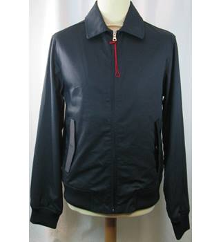 M&S Marks & Spencer Blue Harbour - Size: Small - Navy Blue - Bomber jacket