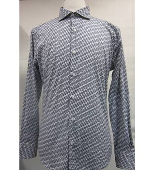 Doppelganger Mens Italian Cotton Shirt XXL Doppelganger - Size: XXL - Blue - Long sleeved