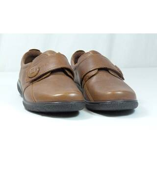 Hotter Sugar Style Brown Loafer Shoes in UK Size 4