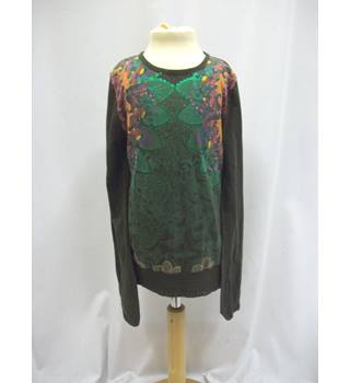 Desigual - Size 9/10 Yrs - Dark Olive Green Long sleeved top