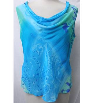 Warp+Weft - Size: 12 - Blue Turquoise - Sleeveless top and skirt