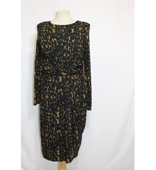 Autograph leopard print dress size 12 M&S Marks & Spencer - Size: 12 - Brown - Knee length dress