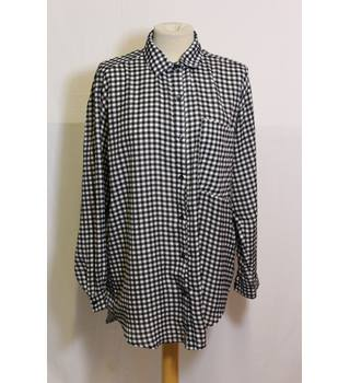 Boohoo Gingham Shirt Size S/M Boohoo - Size: M - Multi-coloured - Long sleeved shirt