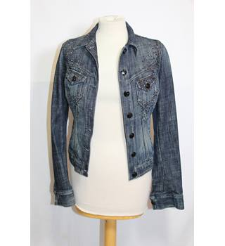 Guess Denim Jacket Size S Guess - Size: S - Blue - Jacket