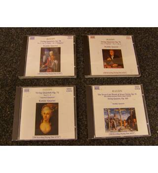 Haydn String Quartets by Kodaly Quartet on 4 Naxos CDs Op 51 'The Seven Last Words of Christ' , op 71, op 76 and op 103