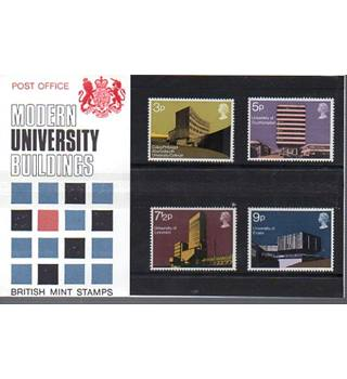Modern University Buildings British Post Office Mint Stamps