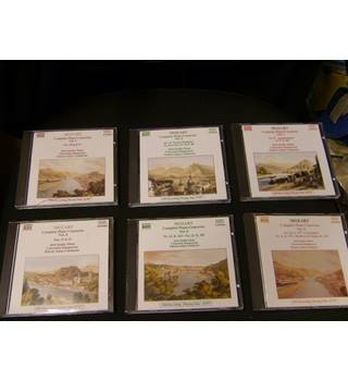 Mozart 13 Piano Concertos plus Rondo in D major on 6 Naxos CDs Jeno Jandi Concentus Hungarius Andras Ligeti recorded 1989-90 DDD