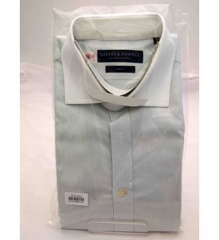 Gieves and Hawkes grey and white formal shirt Gieves & Hawkes - Size: L - Grey