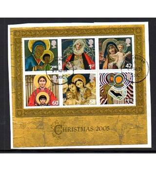 Christmas 2005 Royal Mail Miniature Sheet [POSTMARKED]