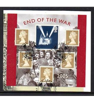 End Of The War 1945 - 2005 Royal Mail Miniature Sheet [POSTMARKED]