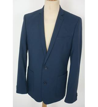"Asos  Size: M, 40"" chest, tailored fit Cobalt Blue Smart/Stylish Polyester & Viscose Blend Single Breasted Jacket"