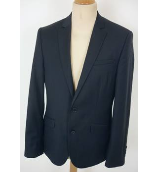 "Asos  Size: M, 40"" chest, tailored fit Dark Blue Smart/Stylish Wool Single Breasted Jacket"