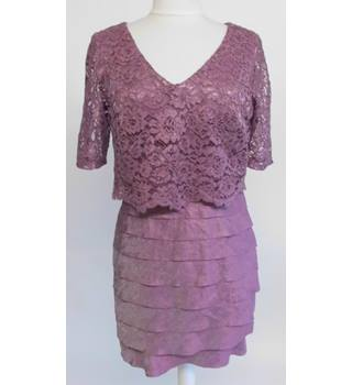 M&S Collection Lace Dress in Dusty Rose Size: 12