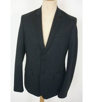 "New Look  Size: M, 40"" chest, slim fit Dark Navy Blue Fleck Stylish Polyester & Viscose ""New Jersey"" Single Breasted Blazer"