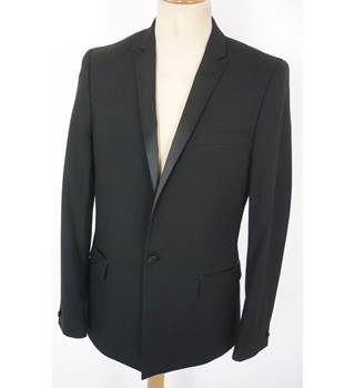 "Asos  Size: M, 40"" chest, tailored fit Black Smart/Stylish Polyester & Viscose Blend Single Breasted Tuxedo Jacket"