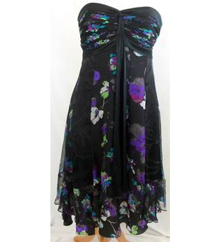 Monsoon - Size: 10 - Black white grey pink purple blue green - Ladies' Off-The-Shoulder Special Occasion Dress