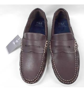 M&S Marks & Spencer - Moccasin Size: 8.5 - Brown